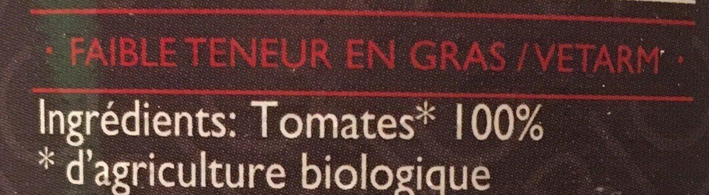 Purée de tomates - Ingrédients