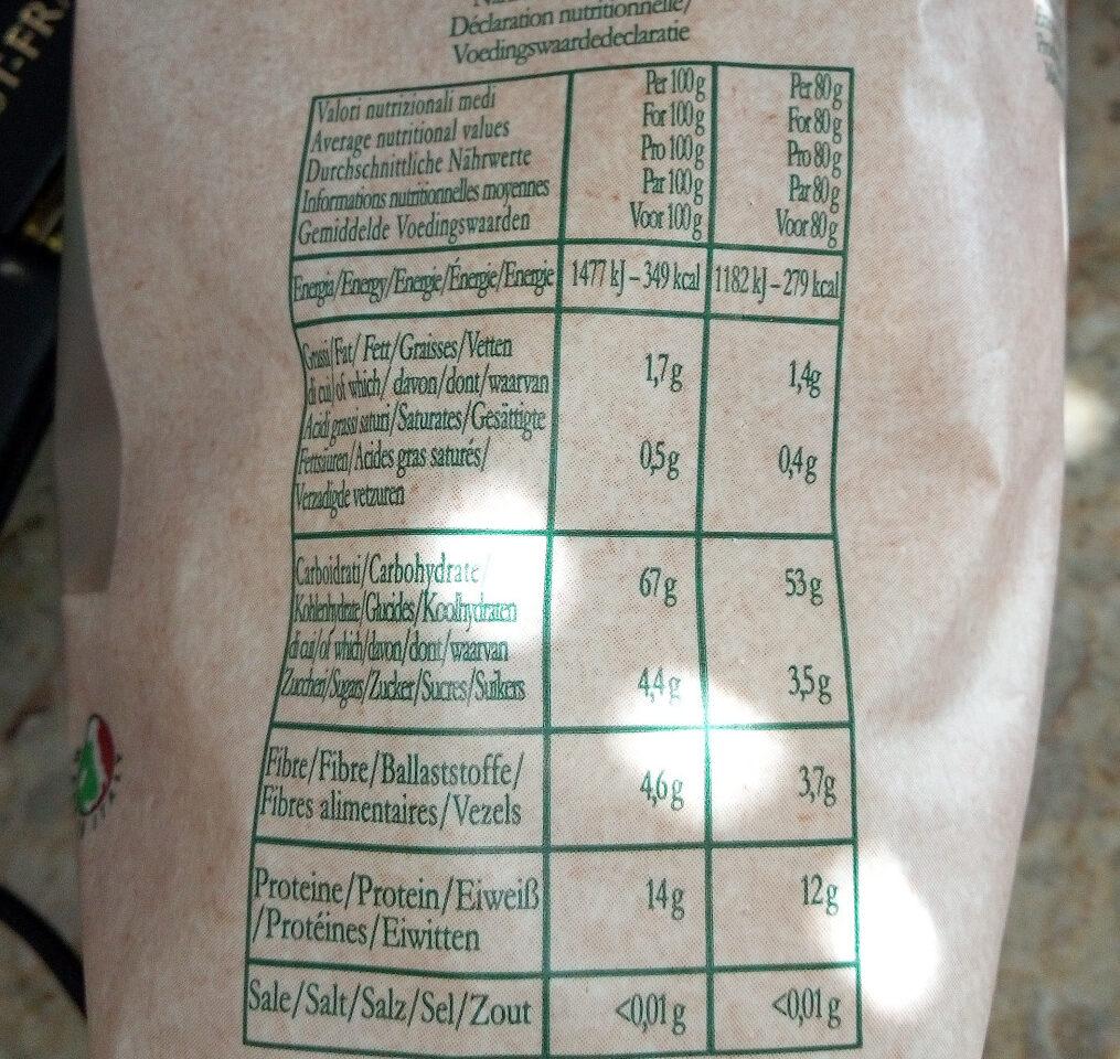 Maccheroni Kamut demi complet - Nutrition facts