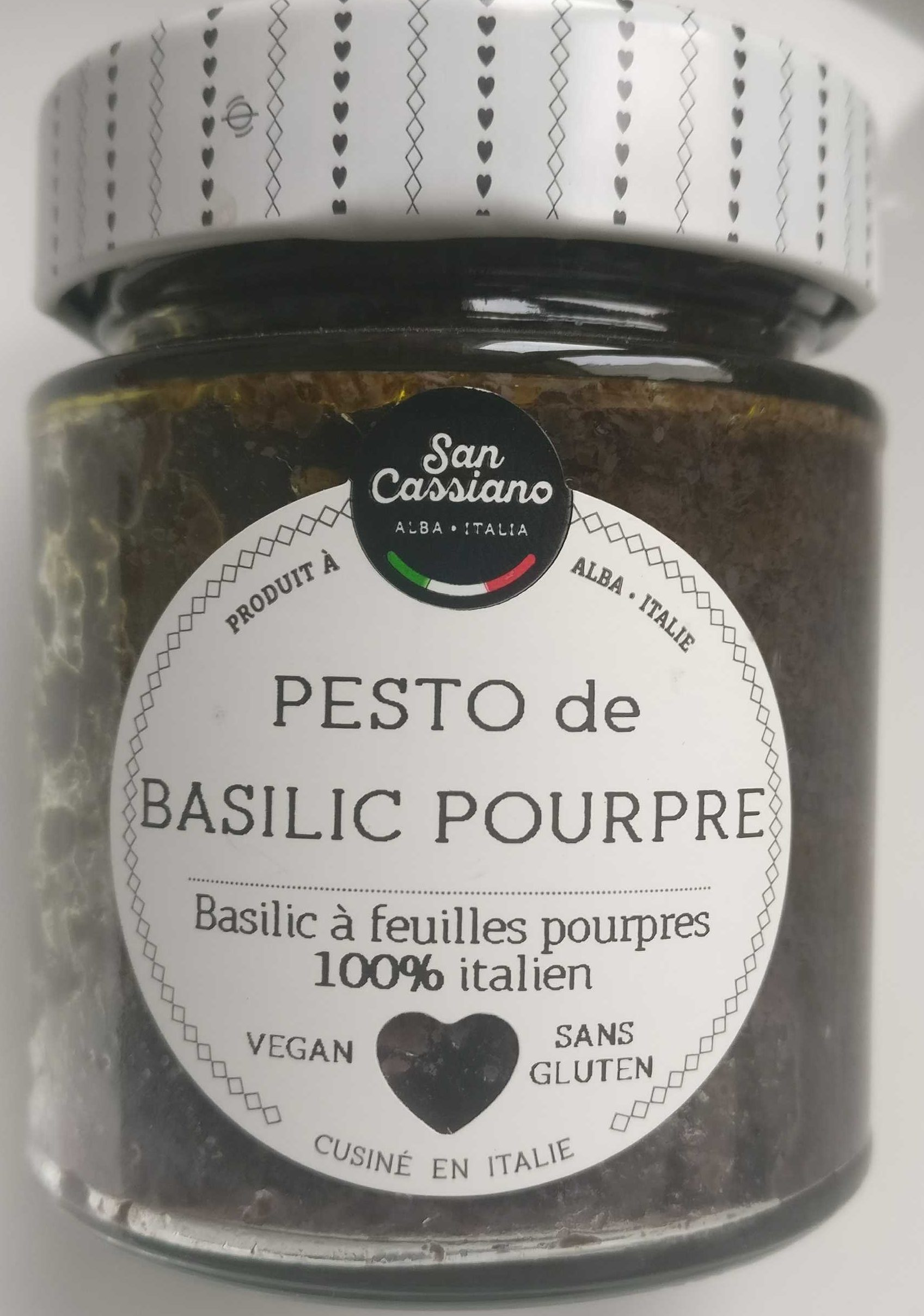 Pesto basilique à feuille rouge - Product