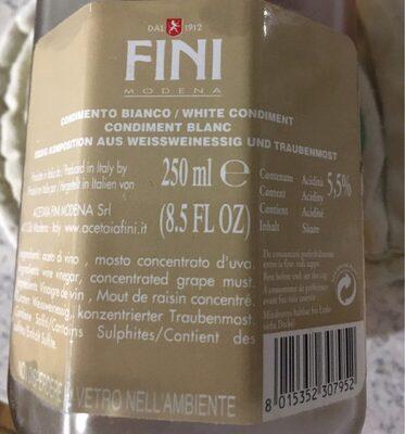 Octagonal Balsamico Wijnazijn Wit - Product