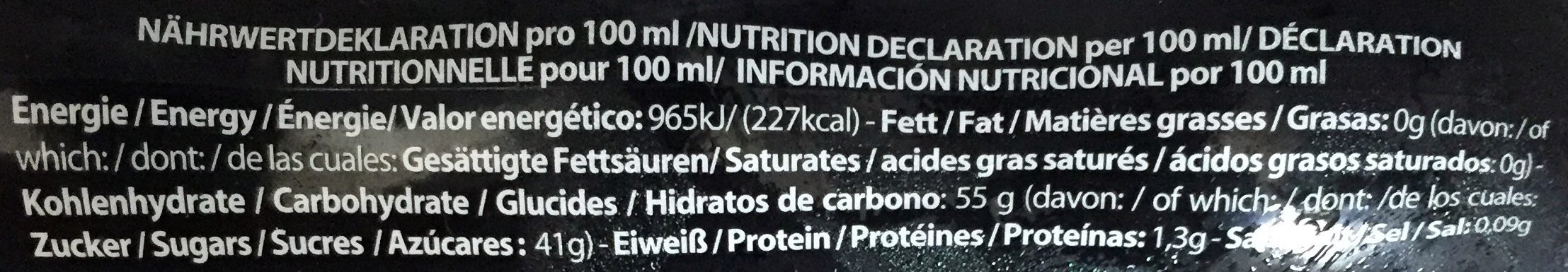 Glassa all'aceto balsamico di Modena I.G.P. - Nutrition facts - en