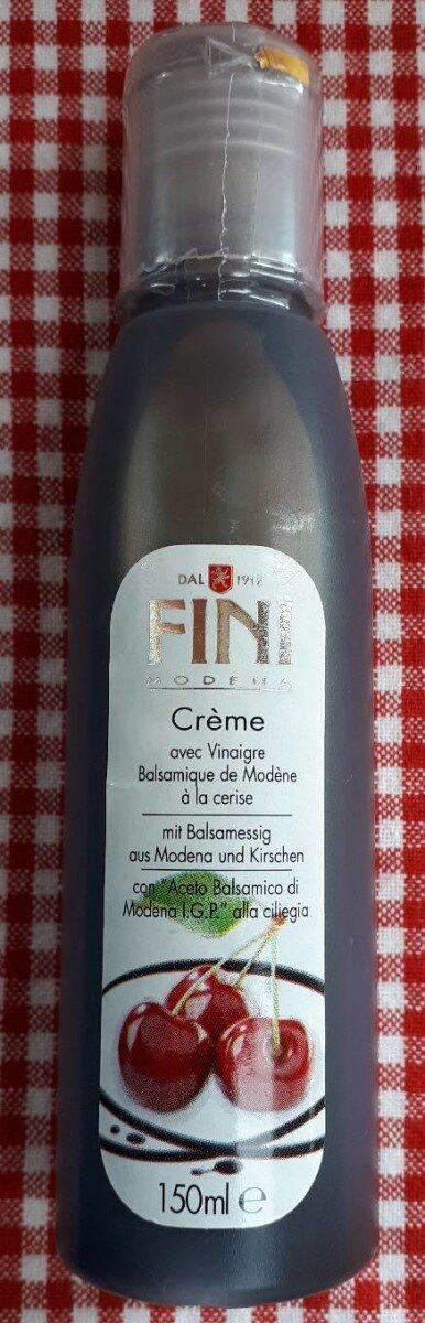Crème avec Vinaigre Balsamique de Modène à la cerise - Product - fr