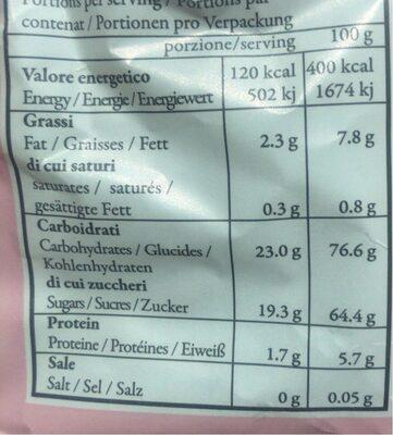 AMARETTI - crisp almond cookies - Voedingswaarden - fr