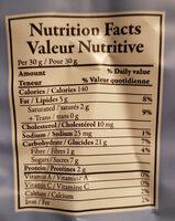 Nocciolato - Informació nutricional - fr