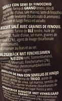 Taralli con semi di finocchio - Ingrediënten - fr
