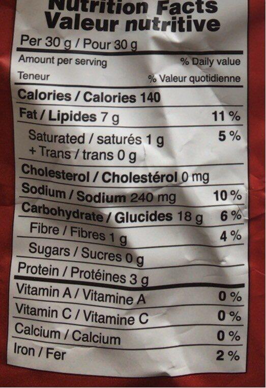 Taralli con semi di finocchio - Voedingswaarden - fr