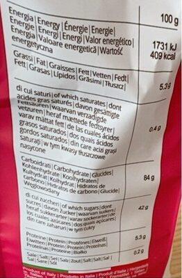 Biscuits aux cranberries - Voedingswaarden - fr