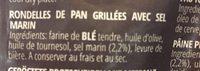 Bruschette - Ingrediënten - fr