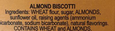 Cantucci - Ingrediënten - en