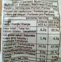 LAURIERI CHOCOLATE CHIP COOKIES - Voedingswaarden - fr