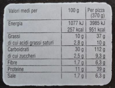 trancio verace con speck - Informations nutritionnelles - it