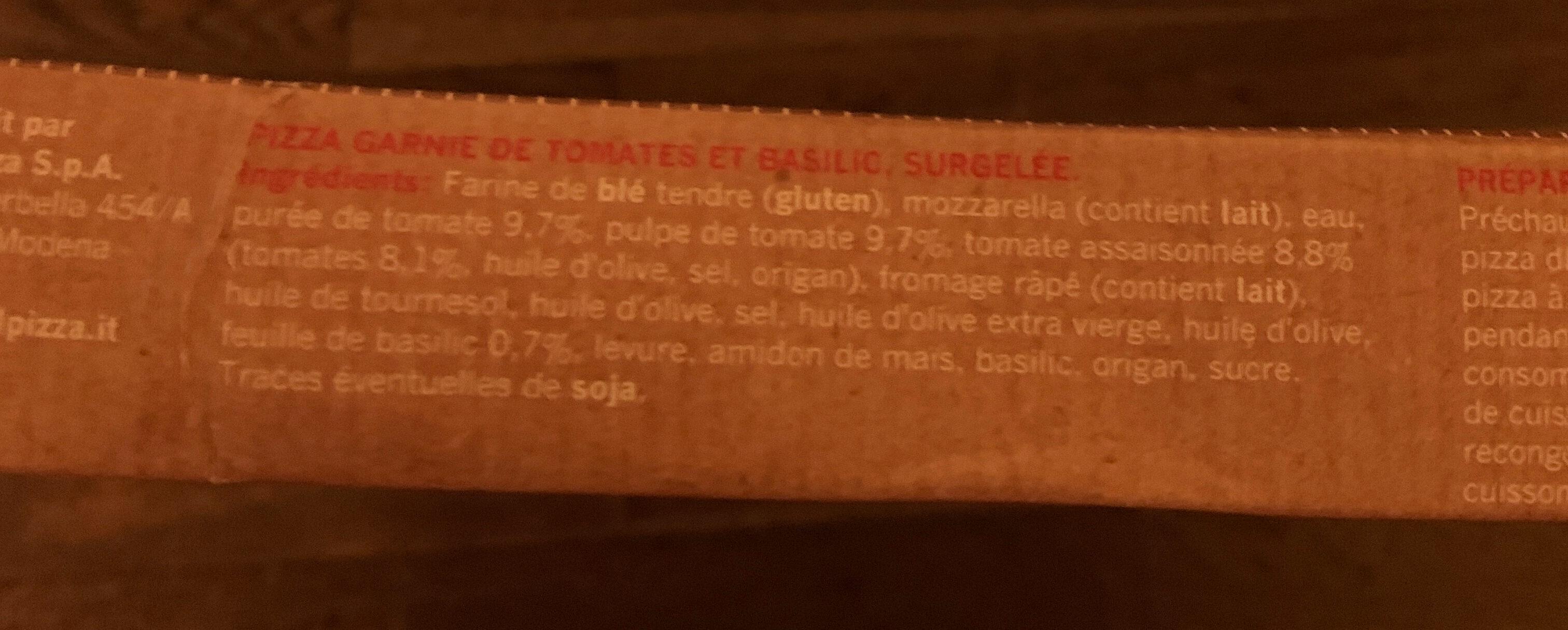 Pizza Pomodorini e basilico - Ingrédients - fr