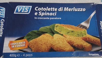 Cotolette di Merluzzo e Spinaci - Produit - it