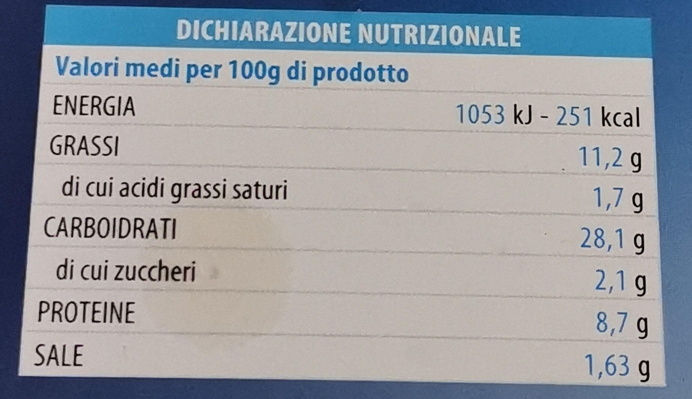 Cotolette di Merluzzo e Spinaci - Informations nutritionnelles - it