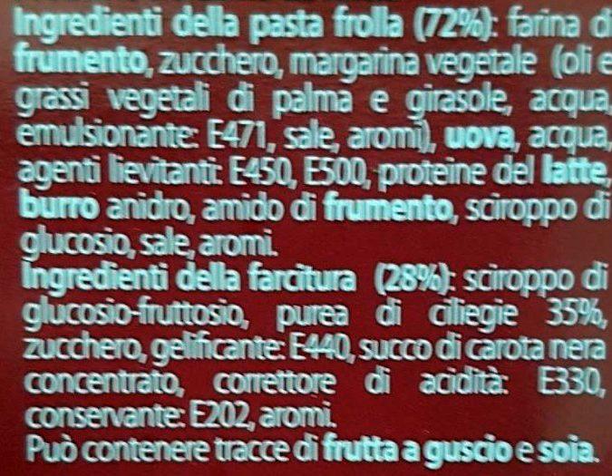 Crostella alla Cilegia - Ingredienti
