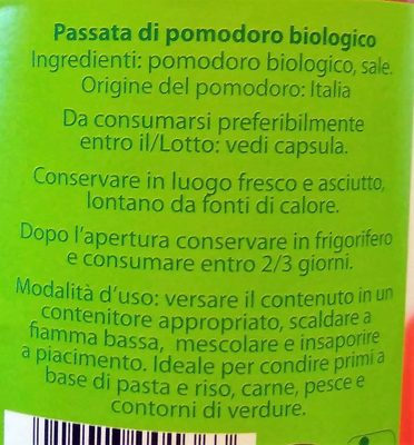 Passata di pomodoro biologico - Ingredients - it