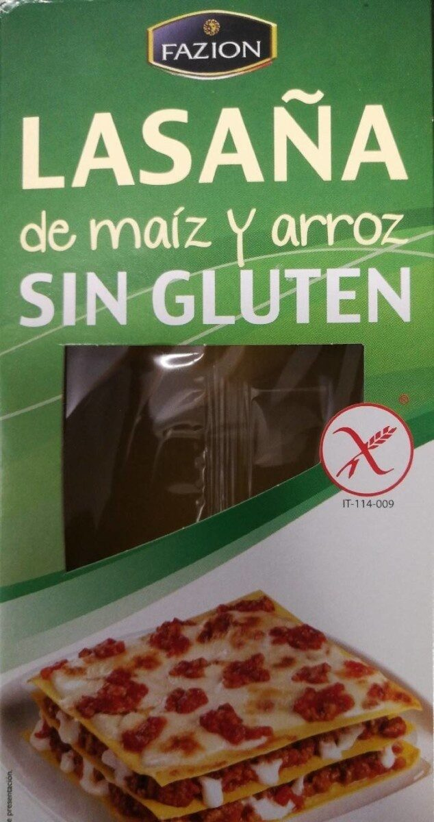 Lasaña de maíz y arroz sin gluten - Producte - es