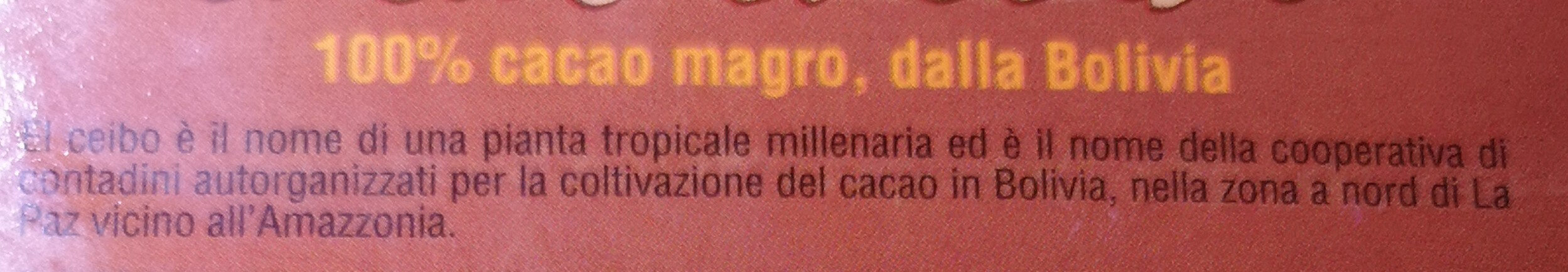 Cacao el ceibo - Ingrédients - fr