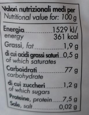 riso integrale ribe Europa - Nutrition facts - it