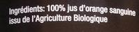 Jus d'orange sanguine Bio - Ingrediënten - fr