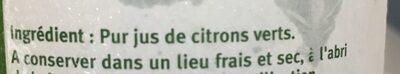 Pur jus de citron vert - Ingredients