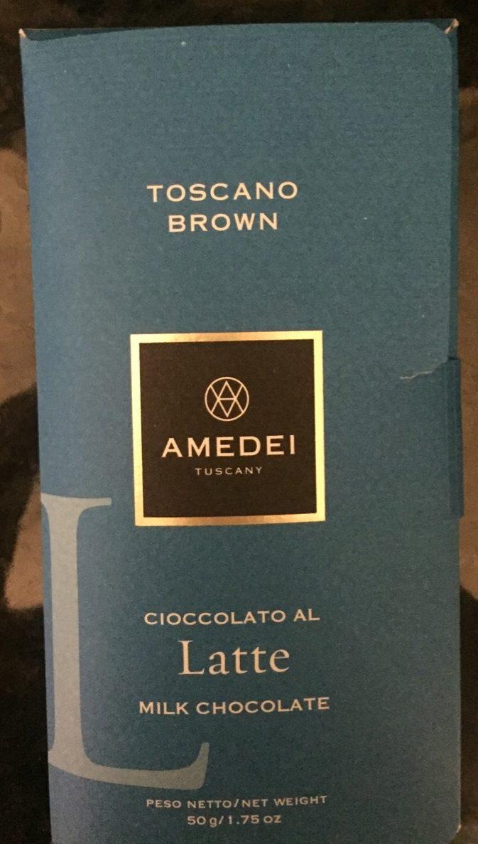 Toscano Brown, Tafel, Vollmilchschokolade - Product