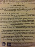 Toscano Brown, Tafel, Vollmilchschokolade - Ingrediënten