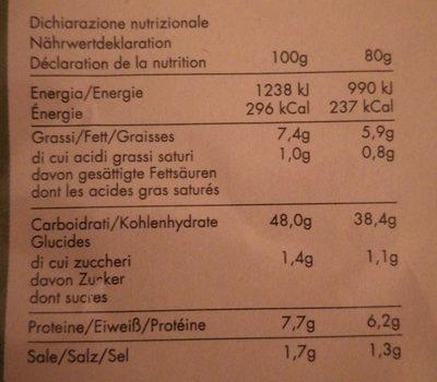 ARTIGIANPIADA La Piadina - Nutrition facts