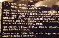 Frollini contre cacao e nucciole - Ingrédients - it