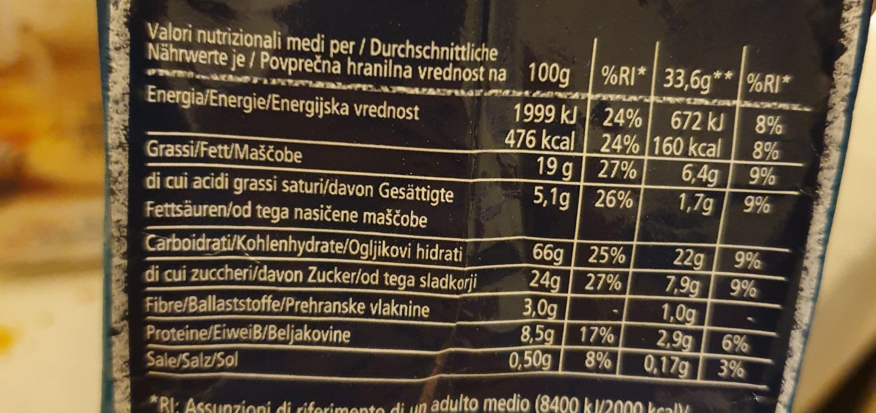 Frollini contre cacao e nucciole - Informations nutritionnelles - it