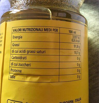 Olio di semi di girasole - Voedigswaarden