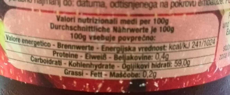 marmellata di fragole - Nutrition facts