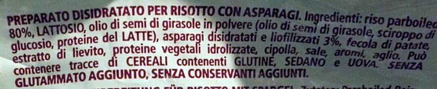 Risotto con asparagi - Ingredients - it