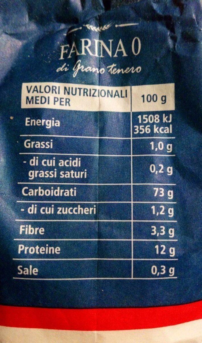 FARINA 0 di grano terreno - Informations nutritionnelles - fr