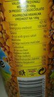 Lenticchie - Nutrition facts - it