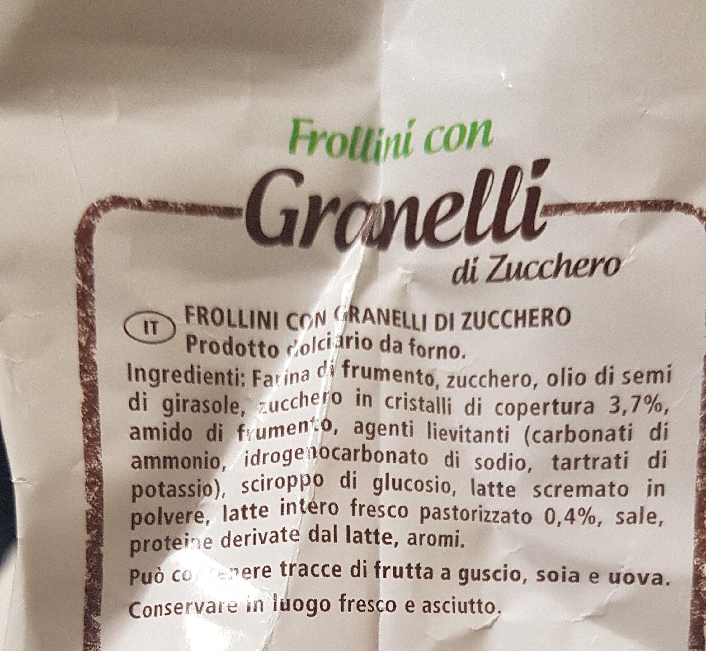 Frollini con granelli di zucchero - Ingredients - it