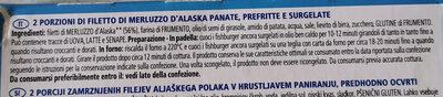 Fish burger di filetto di merluzzo - Ingredients - it