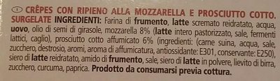 I panciottini al prosciutto e mozzarella - Ingredients - fr