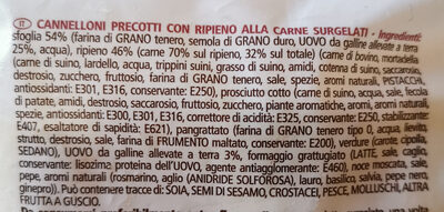 Cannelloni di carne - Ingrediënten - it