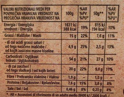 Croissant con crema al cioccolato - Nutrition facts - it