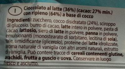 Snack Cocco - Ingredienti