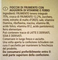 Fiocchi di frumento e crusca - Ingrediënten