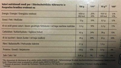 Crostata con Confettura di Albicocche - Nutrition facts
