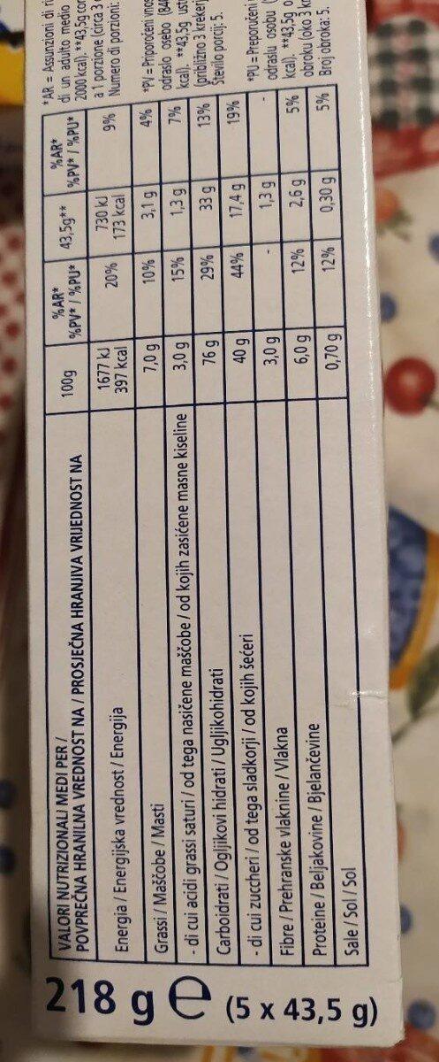 Cracker dolci mela e cannella - Informations nutritionnelles - it