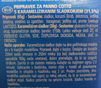 Pripravek za panno cotto s karameliziran in sladkorjem - Ingredients
