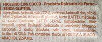 Frollini al cocco - Ingredients - de
