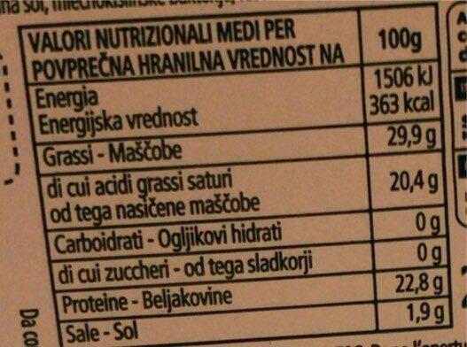 Gouda - Informations nutritionnelles - it