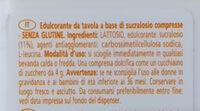 Dolcificante con sucralosio - Ingredienti - it