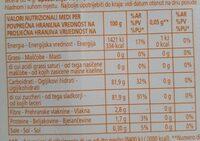 Dolcificante con sucralosio - Valori nutrizionali - it