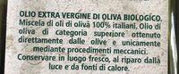 Olio extra vergine di oliva - Ingrédients - fr